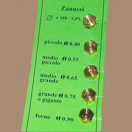 Жиклеры, форсунки для балонного газа Zanussi WO407