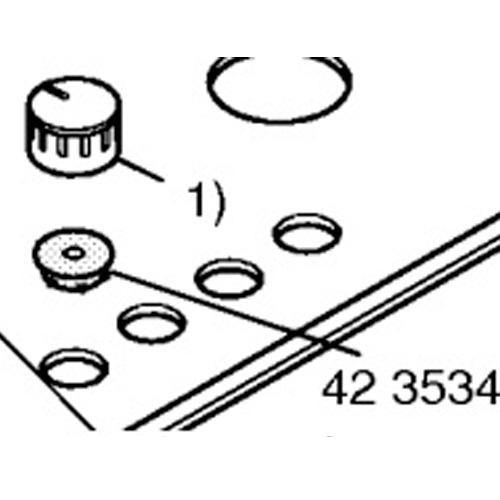 Прокладка ручки для плиты Bosch, Siemens 423354