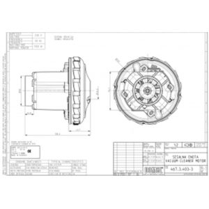 Двигатель моющего пылесоса Bosch GAS20L DOMEL 467.3.403-3 1500W Аналог