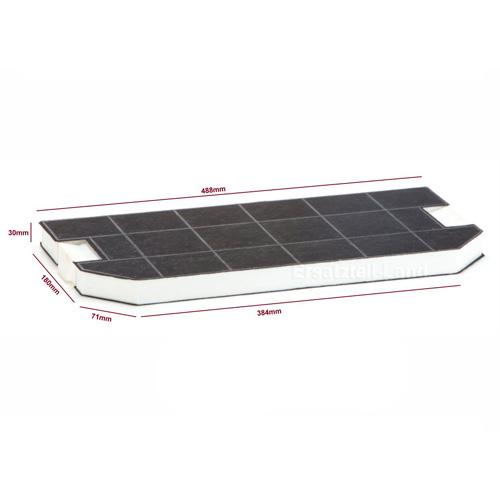 Фильтр угольный для вытяжки Bosch, Siemens, Neff, Gaggenau 460367 Z5146X0 / DHZ3300 / LZ33000