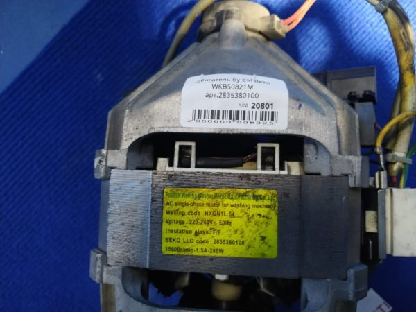Двигатель (мотор) Б/У для стиральной машины Beko WKB50821M арт.2835380100
