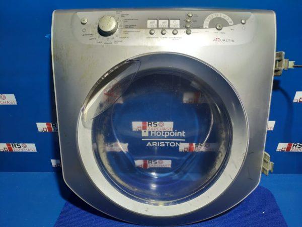 Люк Б/У для стиральной машины HotPoint-Ariston (Серый, с дисплеем)