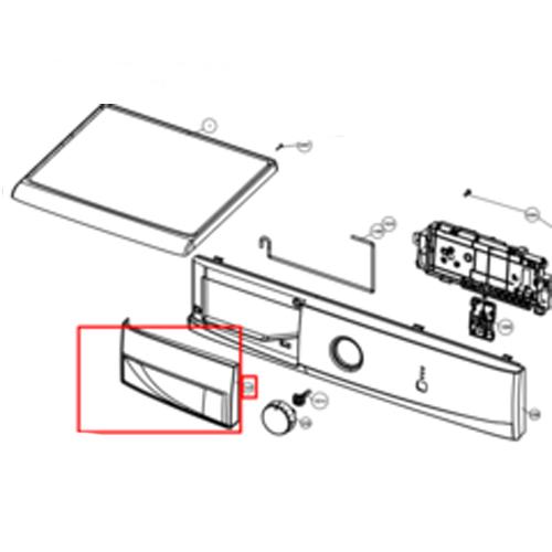 Передняя пластиковая панель стиральной машины Electrolux, Zanussi, AEG 8092120016